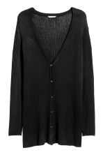 H&M+ Rib-knit cardigan - Black - Ladies | H&M CN 2
