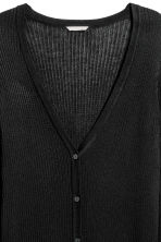 H&M+ Rib-knit cardigan - Black - Ladies | H&M CN 3