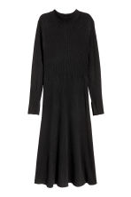 H&M+ Rib-knit dress - Black - Ladies | H&M CN 2