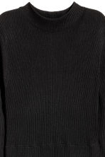 H&M+ Rib-knit dress - Black - Ladies | H&M 3