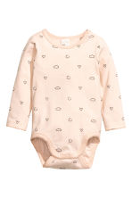 2-pack long-sleeved bodysuits - Dark grey - Kids | H&M 2
