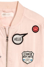 Satin bomber jacket - Powder pink - Kids | H&M 3