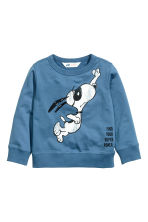 Printed sweatshirt - Blue/Snoopy - Kids | H&M CN 2