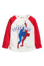 Long-sleeved T-shirt - Red/Spiderman - Kids | H&M 2