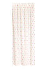 Star-print curtain length - White/Pink - Home All | H&M CN 1