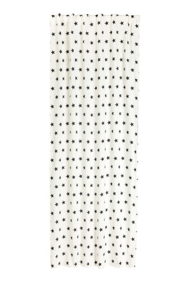 Star-print curtain length - White/Black - Home All | H&M CN 1