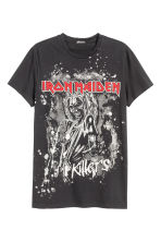 T-shirt with a print motif - Black/Iron Maiden - Men | H&M CN 2