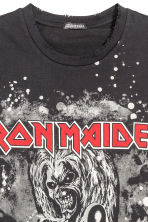 T-shirt with a print motif - Black/Iron Maiden - Men | H&M CN 3