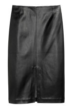 H&M+ Imitation leather skirt - Black - Ladies | H&M CN 2