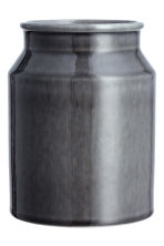 Stoneware vase - Dark grey - Home All | H&M CN 3