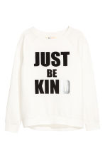 Printed sweatshirt - White -  | H&M 2