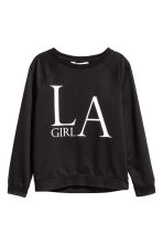 Printed sweatshirt - Black -  | H&M CN 2