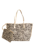 Shopper with a pouch - Leopard print - Ladies | H&M CA 4
