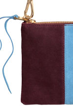 Shoulder bag with suede detail - Burgundy - Ladies | H&M GB 3