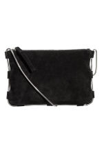 Suede shoulder bag - Black - Ladies | H&M 2