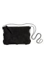 Suede shoulder bag - Black - Ladies | H&M 3