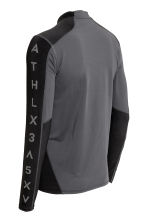 Long-sleeved sports top - Black/Grey - Men | H&M 3