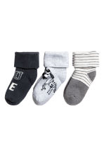 3-pack terry socks - Dark grey - Kids | H&M 2