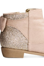Ankle boots with a bow - Light beige -  | H&M 4