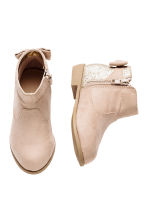 Ankle boots with a bow - Light beige -  | H&M 2