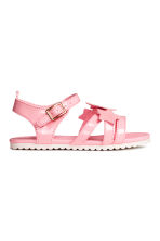 Patent sandals - Pink - Kids | H&M 2