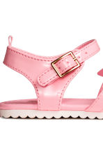 Patent sandals - Pink - Kids | H&M CN 3
