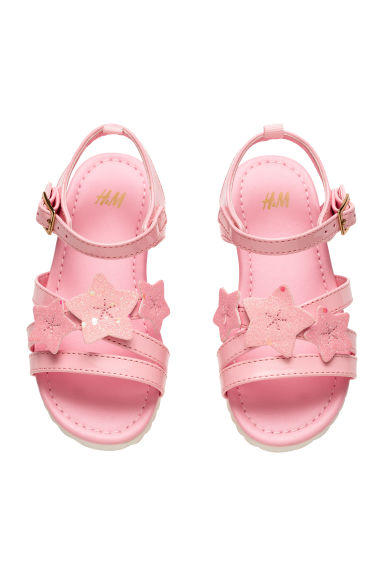 Patent sandals - Pink - Kids | H&M 1