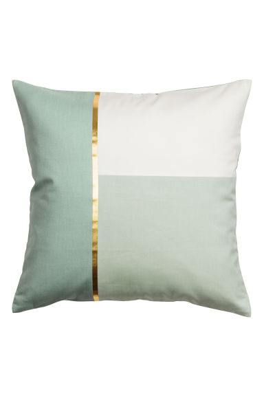 Block-coloured cushion cover - Dusky green - Home All | H&M GB 1