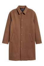 Wool-blend coat - Dark camel - Men | H&M CN 2