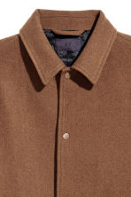 Wool-blend coat - Dark camel - Men | H&M CN 3