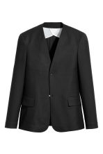Collarless jacket - Black - Men | H&M 2