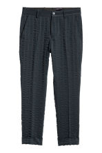 Striped suit trousers - Dark blue - Men | H&M CA 2