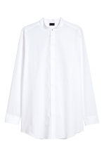 Grandad collar shirt - White - Men | H&M CN 2