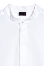 Grandad collar shirt - White - Men | H&M CN 4