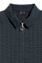 Stripe-weave shirt jacket - Dark blue - Men | H&M CN 3