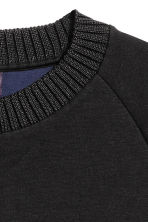 Lyocell-blend sweatshirt - Black - Men | H&M 3