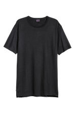 Wool T-shirt - Black - Men | H&M 2