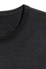 Wool T-shirt - Black - Men | H&M 3