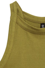 Canotta in jersey - Verde oliva - DONNA | H&M IT 3