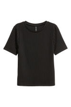 Ribbed top - Black - Ladies | H&M CA 2