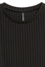 Ribbed top - Black - Ladies | H&M CA 3