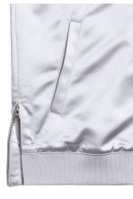 Satin bomber jacket - Light grey - Men | H&M CN 3
