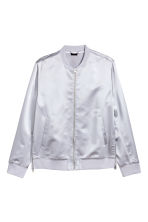Satin bomber jacket - Light grey - Men | H&M CN 2