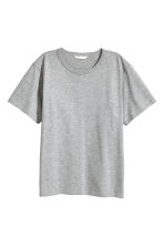 Jersey T-shirt - Grey marl - Ladies | H&M CN 2