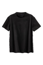 T-shirt with press-studs - Black - Men | H&M 2