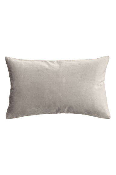 Housse de coussin en velours - Gris - Home All | H&M FR 1