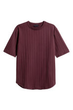 Striped T-shirt - Burgundy - Men | H&M 2