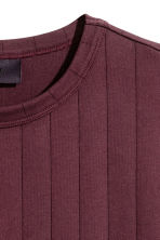 Striped T-shirt - Burgundy - Men | H&M 3