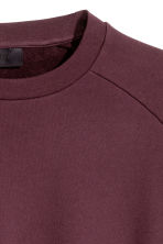 Short-sleeved sweatshirt - Burgundy - Men | H&M 3