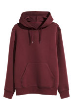 Hooded top - Burgundy - Men | H&M 2